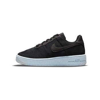 """Nike Air Force 1 Crater Flyknit """"Black Chambray Blue"""" GS dh3375-001"""
