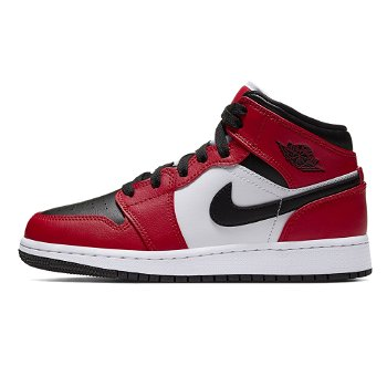 "Jordan Air Jordan 1 Mid GS ""Chicago Black Toe"" 554725 069"